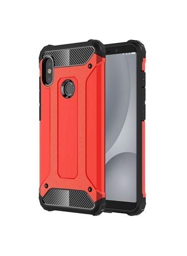Microsonic Xiaomi Redmi Note 5 Kılıf Rugged Ar  Kırmızı